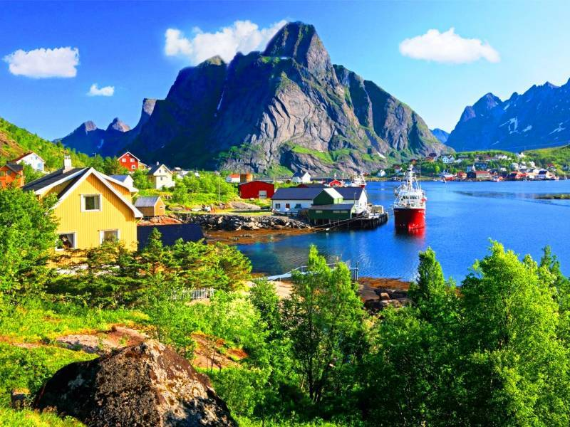 Fiordi Norvegesi Isole Lofoten